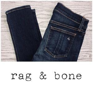 rag & bone | Chaucer Hi-Rise Dark Wash Skinny Jean
